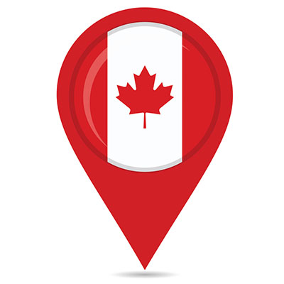 canadian map pin